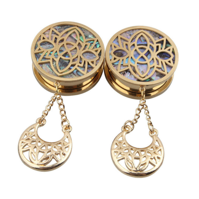 Dangly Gold Plugs